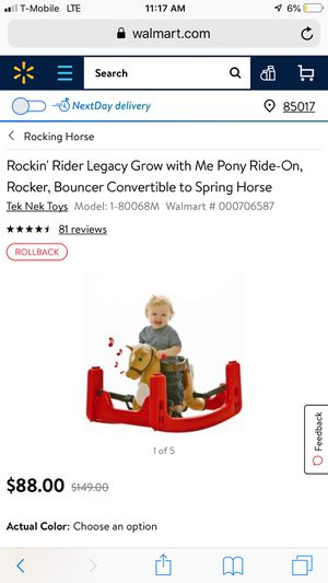Rocking rider grow-with-me Pony for Sale in Las Vegas, NV