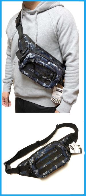 NEW! Camouflage Tactical Military style Side Bag / Waist Pack Pouch fanny pack crossbody bag travel bag camping day pack hiking molle chest hip bag for Sale in Carson, CA