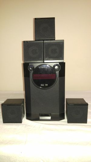 5 Onkyo cube speakers with subwoofer/amplifier for Sale in Bellevue, WA