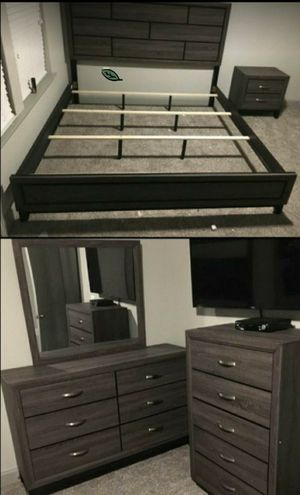 🍒 BEST Offer SPECIAL] Akerson Gray Panel Bedroom Set 74 for Sale in Jessup, MD