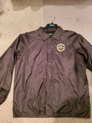 BRIXTON MENS XL BROWN WIND BREAKER CHIEF JACKET OLD SCHOOL RARE FIND SKATEBOARD THRASHER VANS SO CAL STYLE JACKET STUSSY for Sale in Alhambra, CA