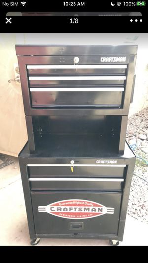 CRAFTSMAN Tool Box!! Nice!! Like New Triple Stack Toolbox on Casters!!!!! LOOKS Amazing and Functions Even BETTER!! for Sale in Phoenix, AZ