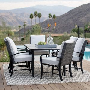 New in box..Belham Living Augusta Metal and All-Weather Wicker 7pc Patio Dining Set for Sale in Boca Raton, FL