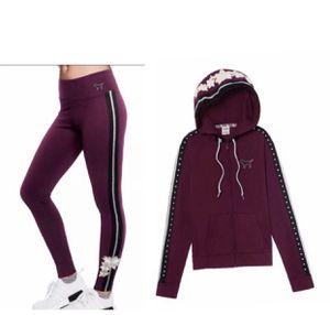 VS Pink Ser Bling Hoodie full Zip & Yoga Legging Medium for Sale in OH, US