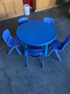 Kid's table with 5 chairs (3chairs addtl $) for Sale in Las Vegas, NV