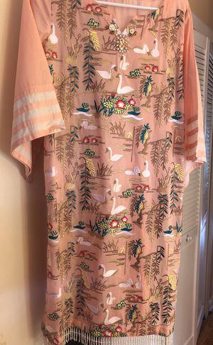 Elegant designer dress! Medium size .2 piece . Shirt and pants. for Sale in Herndon, VA