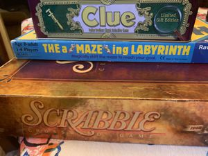Board Games : clue, labyrinth, scrabble for Sale in Seattle, WA