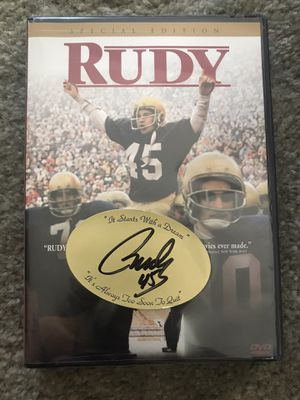 Autographed Rudy DVD Movie for Sale in Beaverdam, VA