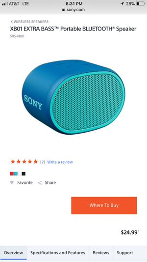Sony bluetooth speaker for Sale in Tacoma, WA