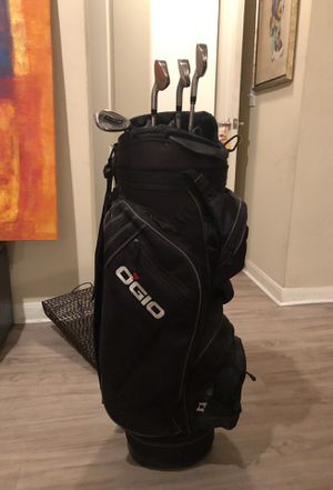 OGIO Men's Golf Bag with 4 Clubs included for Sale in Dallas, TX