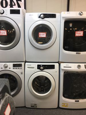 Samsung front load washer and dryer electric set excellent conditions excellent for Sale in Beltsville, MD