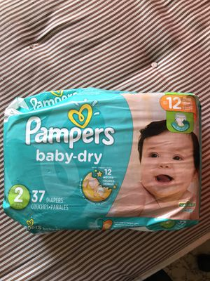 Pampers size 2 diapers (37) for Sale in Hesperia, CA