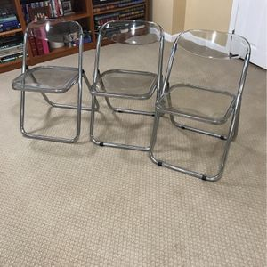 Acrylic Vintage Folding Chairs for Sale in McLean, VA