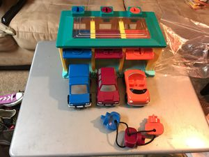 Toy car garage with the keys for Sale in Durham, NC