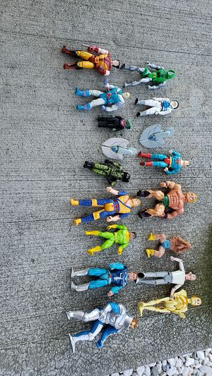 Vintage 1980's and 90's action figures,Ghostbusters, pee wee herman,heman,g.i. joe,x-men,superman for Sale in Pataskala, OH