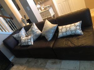 Leather couch piece for Sale in McKinney, TX
