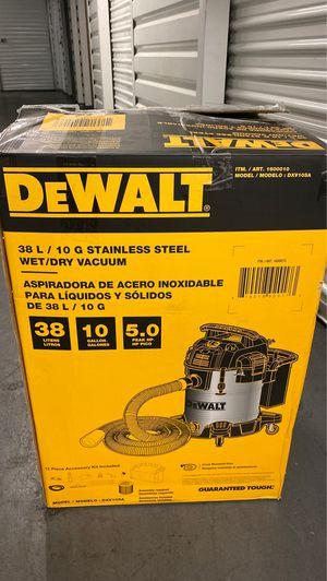 DeWALT, 10 Gallon, 5.0 HP Stainless Steel Wet/Dry Air Blower Workshop Vacuum for Sale in Long Beach, CA