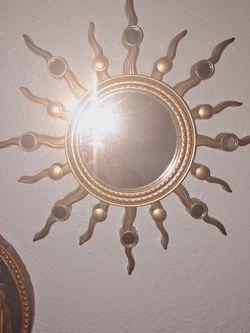 Medium Sized Gold Sun 🌞 Mirror for Sale in St. Petersburg,  FL