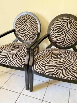 Zebra Accent Chair Set Of 2 for Sale in Diamond Bar,  CA