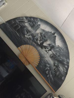Japanese living room decoration fan for Sale in Waipahu, HI