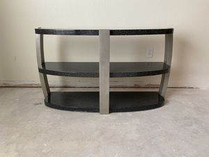 Black and Silver Console Table for Sale in St. Petersburg, FL
