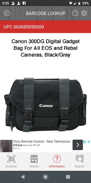 Canon 300DG Digital Gadget Bag For All EOS and Rebel Cameras, Black/Gray for Sale in Houston, TX