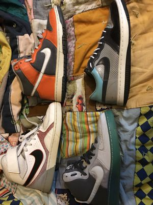 NIKE , Dunk , airforce , court force n Fllight 45$ each or 145 all 4Size 8.5 o for Sale in Las Vegas, NV
