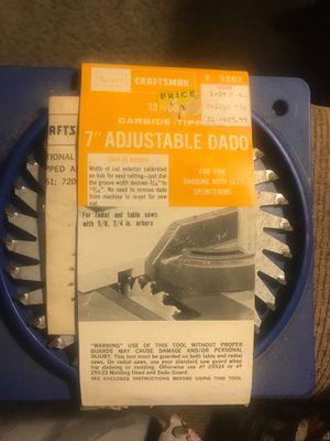 Craftsman carbide -tipped 7 inch adjustable DADO for Sale in Parma, OH