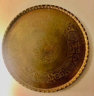 Medium vintage brass tray for Sale in Seattle, WA