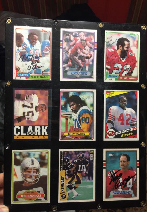 Original Signed Football Cards