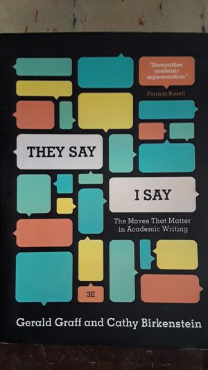 They Say, I Say (book) for Sale in Ann Arbor, MI