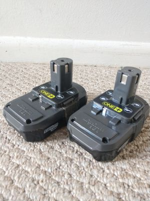 RYOBI original 18 Volt Lithium Batteries. Working. Price for both. for Sale in Fort Lauderdale, FL