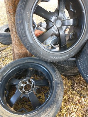 20 inch black universal rims for Sale in Madera, CA