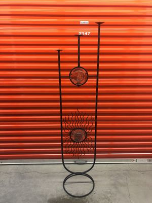 Beautiful 5ft Tall Cast Iron Sun and Moon Candle Holder for Sale in Federal Way, WA