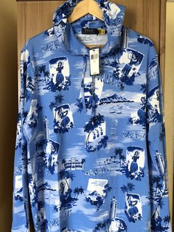 Polo Ralph Lauren Hoodie Hawaii Aloha Pullover Hooded Shirt Size Large New With Tags $70 for Sale in Hawthorne,  CA