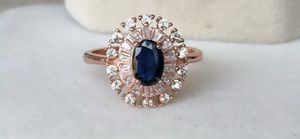 Natural Blue Sapphire in 925 Sterling Silver, Classic Design Ring for Sale in Wichita, KS