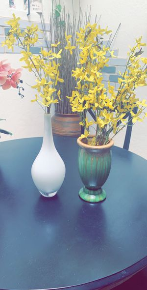 Two vases with yellow flowers - artificial for Sale in Glendale, AZ