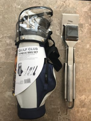 Sealed brand new 7-Piece Golf Grilling Tool Set plus Kenmore Stainless Steel 3-Piece Barbecue Set for Sale in Rockville, MD