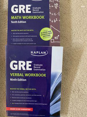 GRE Prep books. Kaplan and Manhattan Prep for Sale in Oceanside, CA
