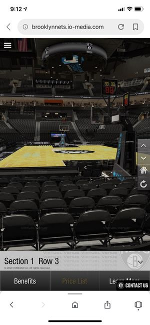 Brooklyn nets nba tickets 4th row from court for Sale in Easton, PA