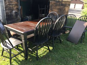 Country table set with extension for Sale in Watsontown, PA