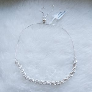 🎁 NEW Sterling silver rope bracelet w/ tag for Sale in Pompano Beach, FL