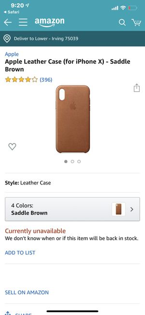 Leather xs case apple brown for Sale in Irving, TX