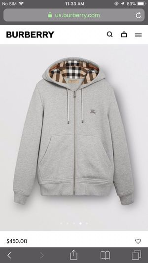 Burberry hoodie Size XL double zipper for Sale in Tulalip, WA