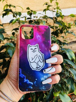 Brand new cool iphone 11 PRO case cover rubber nasa space cat ripndip mens guys hypebeast hypebae womens girls hype swag for Sale in San Bernardino, CA