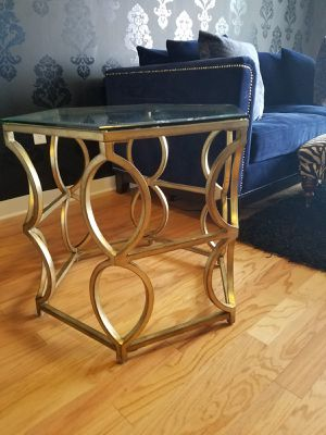 Modern Gold Glass End Tables - Paid $500 for Sale in Orlando, FL