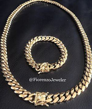 Cuban link chain set for Sale in Pembroke Pines, FL
