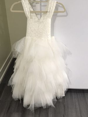 Flower girl dress size 5 6 for Sale in Evanston, IL