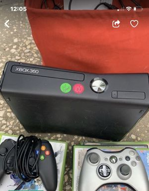 Xbox 360 with 10 games, two remotes and head microphone gear. Great for gift all cords included for Sale in Lakeland, FL