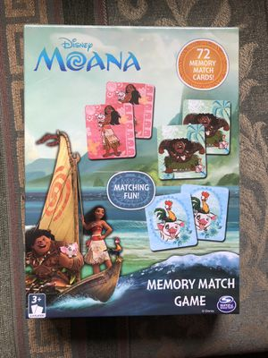 BRAND NEW 72 pc MOANA memory match game for Sale in San Antonio, TX